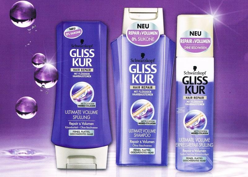 Flaumweiche Haare? Ab sofort! Die Kosmetikprodukte Ultima Volume von Gliss Kur.